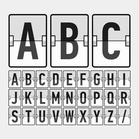 indicator panel: Mechanical timetable, information board, display alphabet