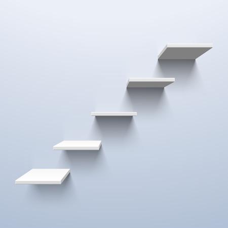 階段の形状の棚  イラスト・ベクター素材