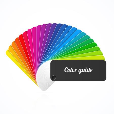 Barevná paleta průvodce, ventilátor, katalog Ilustrace