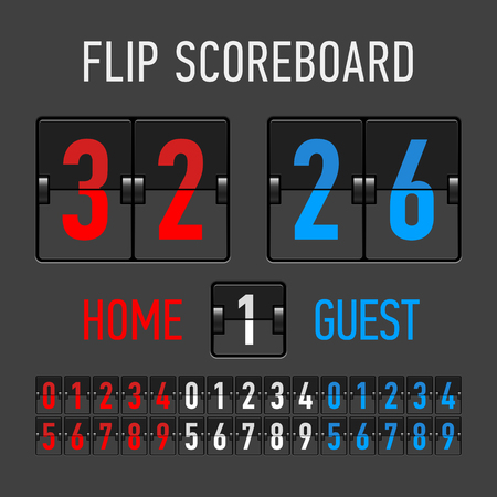 Flip Scoreboard Stock Vector - 26262508