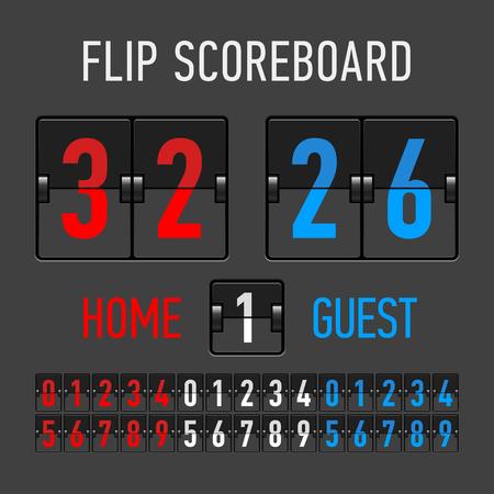 indicator panel: Flip Scoreboard Illustration