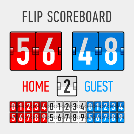 mechanical panel: Flip Scoreboard Illustration