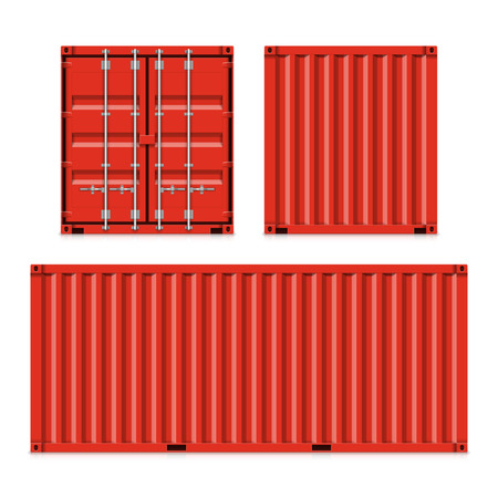 Freight shipping, cargo containers Vector