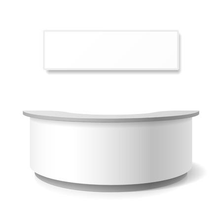 レセプション、展示カウンター  イラスト・ベクター素材