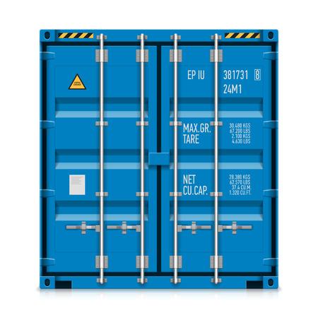 ports: Il trasporto merci, container cargo Vettoriali
