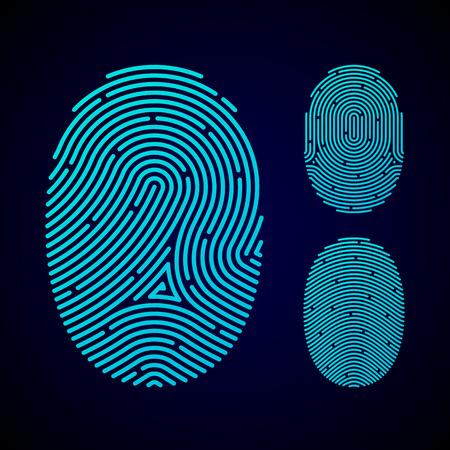 Typy vzorů otisků prstů Ilustrace