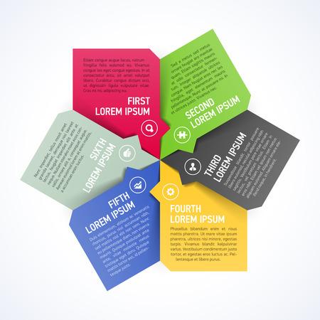 Six consecutive steps design element template