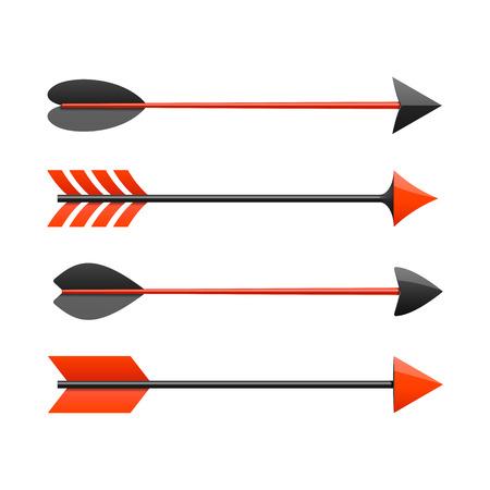 dřevěný: Bow šipky Ilustrace