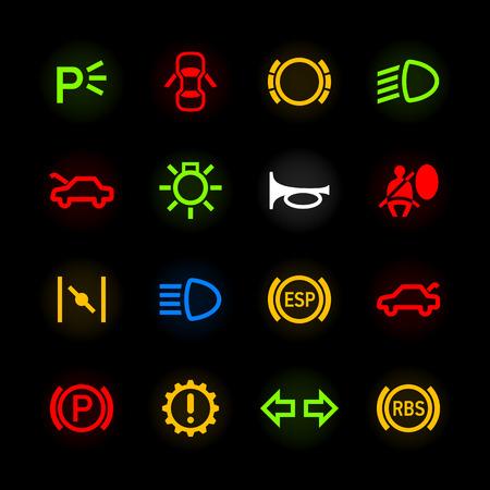 на авто значки на панели: