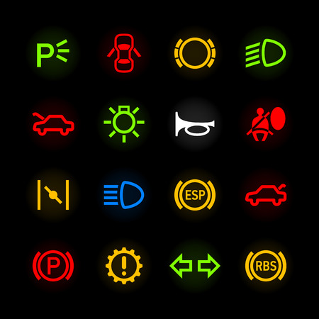 instrument panel: Car dashboard icons