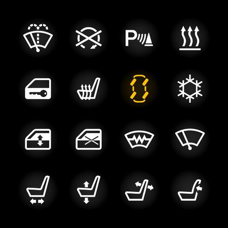 asiento coche: Iconos del tablero de coches