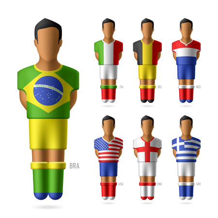 sports flag: Soccer   football players of national teams