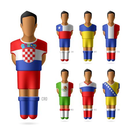 Soccer   football players of national teams Vector
