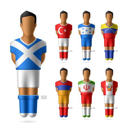 bandera honduras: Jugadores de fútbol de fútbol de los equipos nacionales Vectores