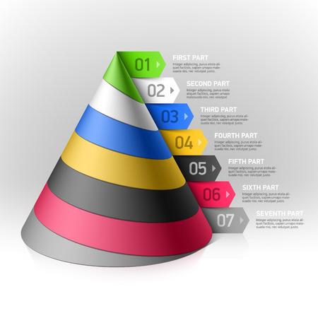 Layered cone design element Vector