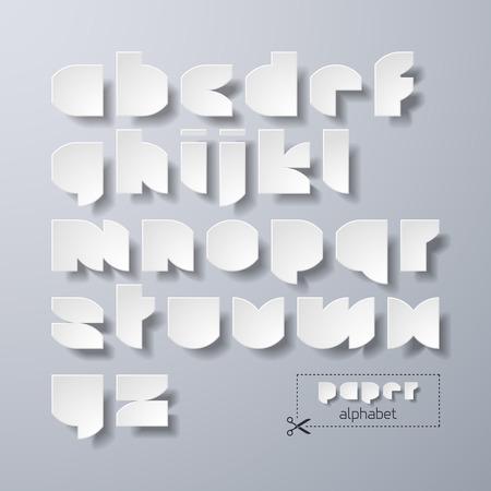 alphabetic: Paper alphabet