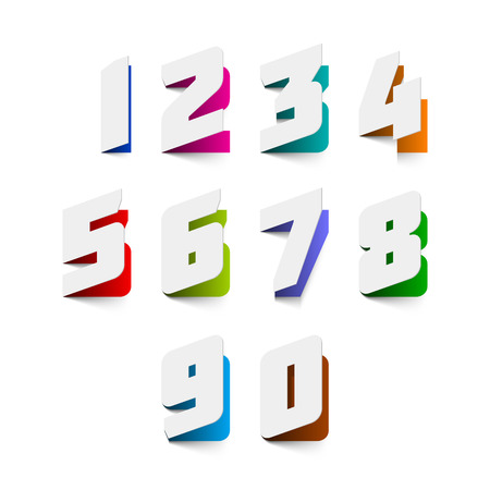 paper cut: Papier gesneden nummers