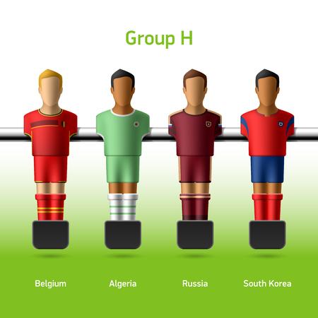 Table football   foosball players World soccer championship in Brazil 2014 Vector