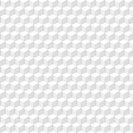 白の幾何学的なテクスチャのシームレスな図  イラスト・ベクター素材