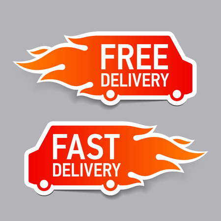 Free and fast delivery labels Vector