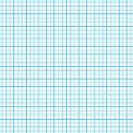 Grafiek, millimeter papier Seamless, echte schaal Stock Illustratie