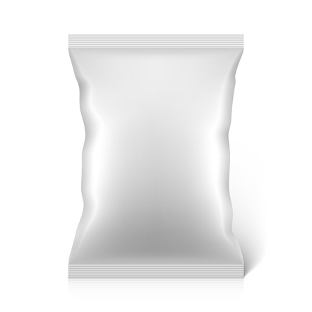 Blank snacks food foil packaging bag Illustration