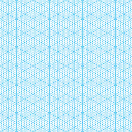 Isometric graph paper  Seamless illustration  Vector