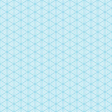 hoja cuadriculada: Papel gr�fico isom�trico Ilustraci�n perfecta Vectores