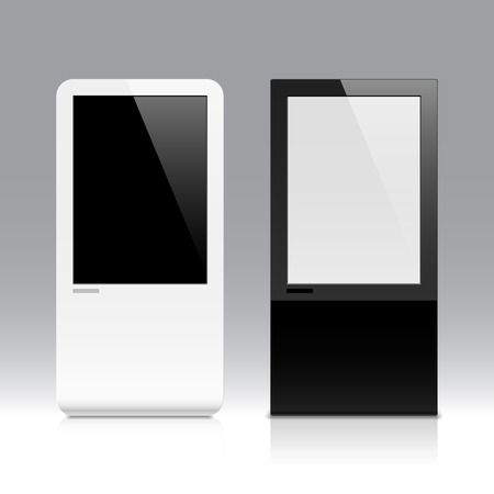 blank computer screen: Interactive touch screen