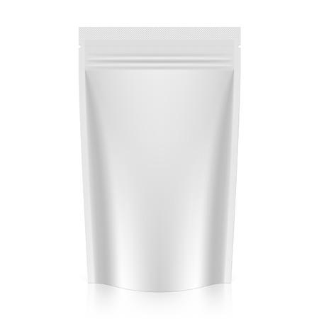 plastic: Leeg staan zakje folie of plastic verpakking met rits