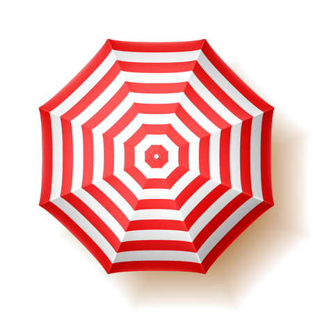 Beach umbrella, top view Vector