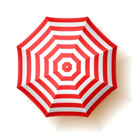strand: Sonnenschirm, Ansicht von oben Illustration