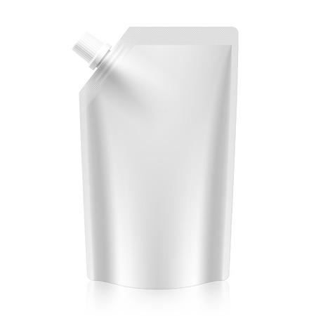 Pokrowiec puste wylewka, folia plastikowa torba lub opakowanie Ilustracje wektorowe