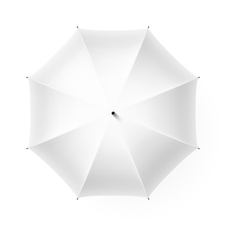 White umbrella, top view Illustration
