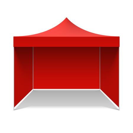 Canopies: Red folding tent