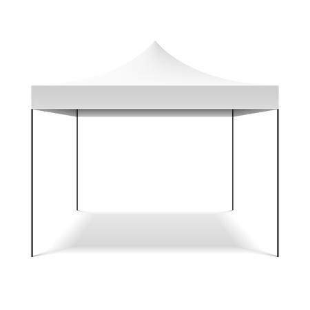 흰색 접는 텐트 일러스트