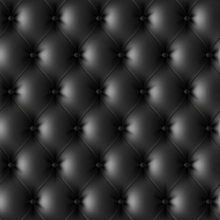cushions: Black leather upholstery pattern