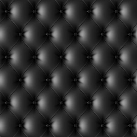negro: Patrón de tapizados en cuero negro