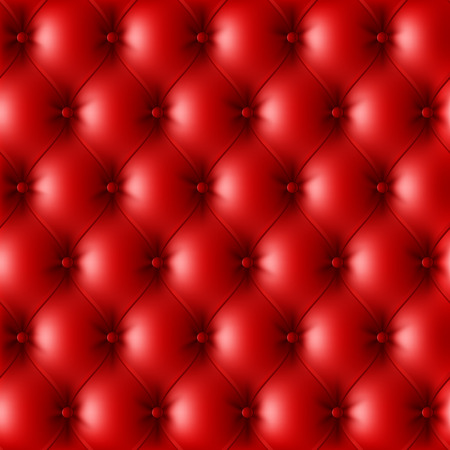 upholstered: Red leather upholstery pattern Illustration
