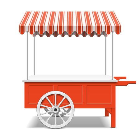 Red farmer s market cart