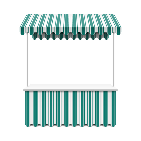 awning: Market stall