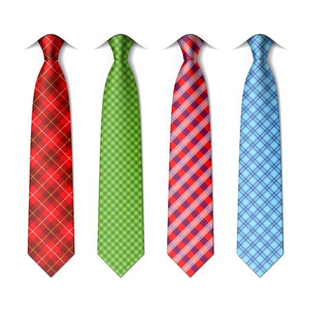 shirts: Plaid, checkered silk ties