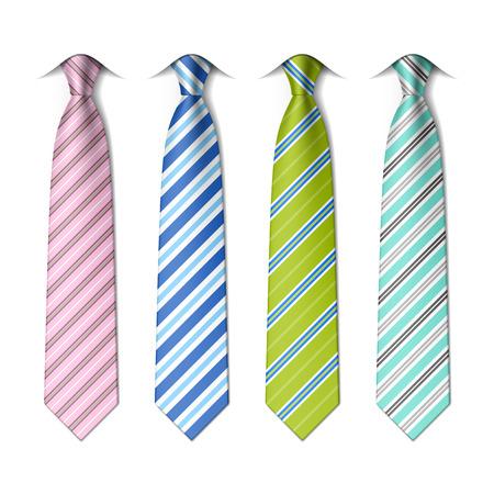 Gestreifte Krawatten aus Seide