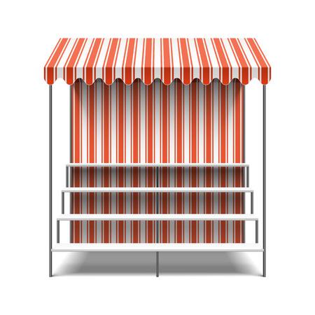 Bloem marktkraam Vector Illustratie