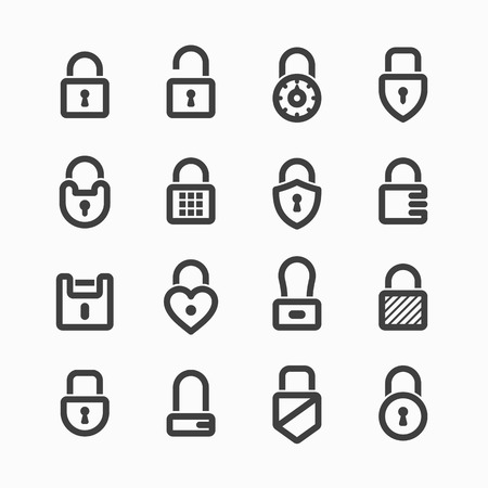 combination lock: Padlock icons