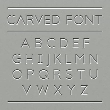 Carved font design