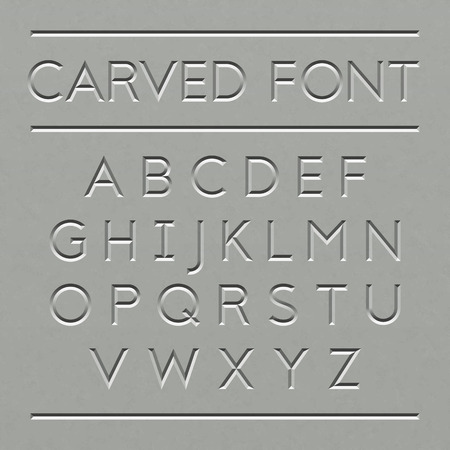 latin language: Carved font design