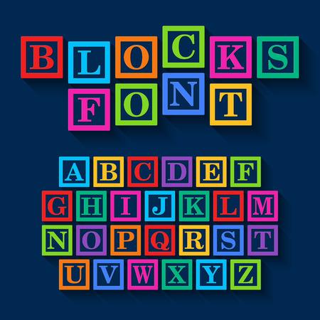 Leren Blokken alfabet Stock Illustratie