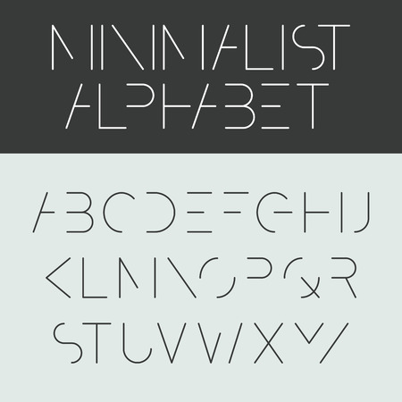 Minimalist alphabet  Font design  Illustration