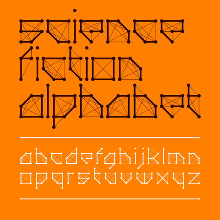 science fiction: Science fiction font style